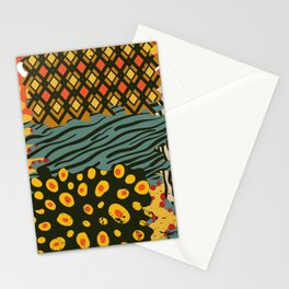 Colorful African Animal Pattern Stationery Cards