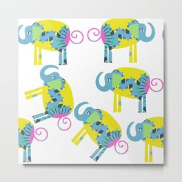 Elephants 4X Metal Print