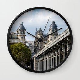 Pont de Bir-Hakeim over the Seine Wall Clock