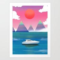 Mountain Yacht Art Print