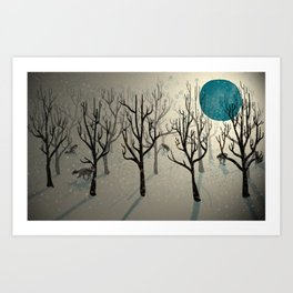 Among the Wolves... Art Print