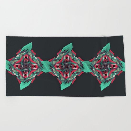 Calaabachti Truth Flower Beach Towel