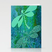 dragonfly Stationery Cards featuring Dragonfly  by Saundra Myles
