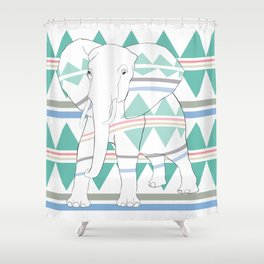 Do I Blend In? #elephant Shower Curtain