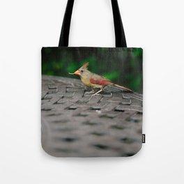 Female Cardinal // Ohio Tote Bag