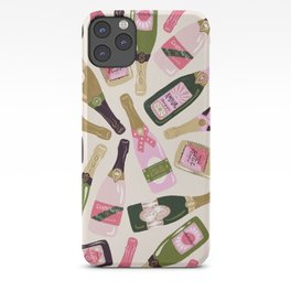 French Champagne Collection – Pink & Green iPhone Case
