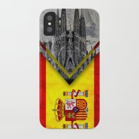 spain iPhone & iPod Cases featuring Flags - Spain by Ale Ibanez
