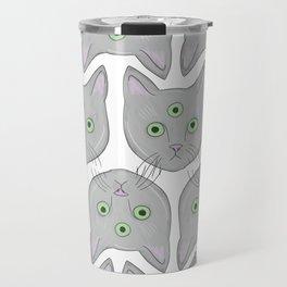 Cat Pattern Travel Mug