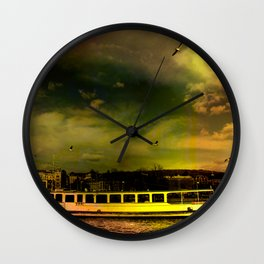 Lake Zurich in Color Wall Clock