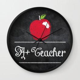 A+ Teacher Wall Clock