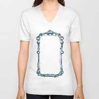 frame V-neck T-shirts featuring frame by k. Reinstein