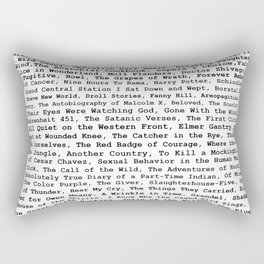 Banned Literature Internationally Print Rectangular Pillow