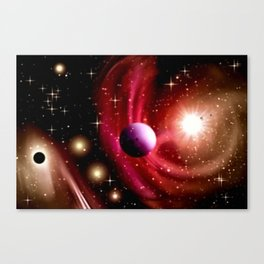 Stardust and solar wind. Canvas Print