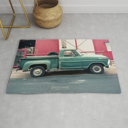 Old Truck & Red Building Rug