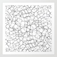 cracked Art Prints featuring Cracked by Catrin Eluned