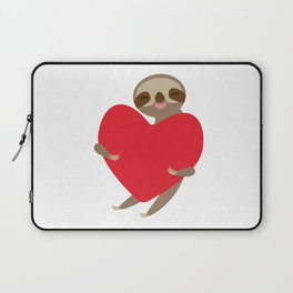 Funny sloth with a red heart Laptop Sleeve