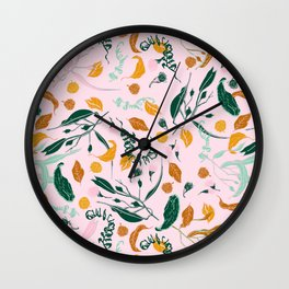 NATURE TABLE - THE HUMAN SPIRIT IS STRONGER THAN ANYTHING THAT CAN HAPPEN TO IT - COOPER AND COLLEEN Wall Clock