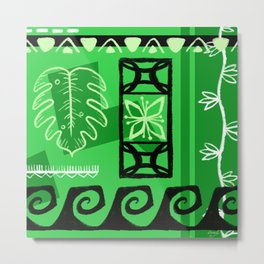 Hawaiian Pattern #1 - green! Metal Print