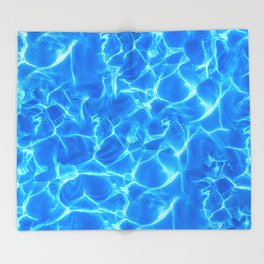 Water reflections Throw Blanket