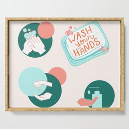 Wash Your Hands Serving Tray