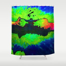 Reflection In Time Shower Curtain