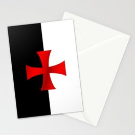 Dual color knights templar red cross Stationery Cards