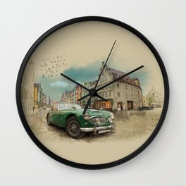 Germany on a rainy day Wall Clock