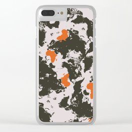world map, Africa Clear iPhone Case