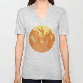 Pastel Flames Unisex V-Neck