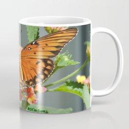 Gulf Fritillary on Lantana Coffee Mug