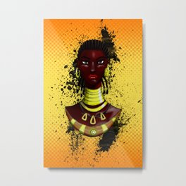 Mahink - L'Afro Queen by Sly Mido Metal Print