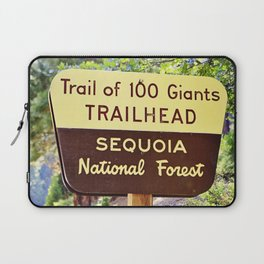 Trail of 100 Giants Vintage National Forest Sign Laptop Sleeve