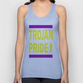 Trojan Pride - Purple & Yellow Unisex Tank Top