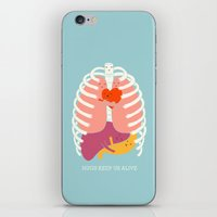 ilovedoodle iPhone & iPod Skins featuring Hug keep us alive by I Love Doodle