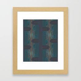 art deco stripe Framed Art Print
