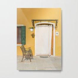 Burano yellow house Metal Print