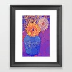 Vintage Flowers in the rain Framed Art Print