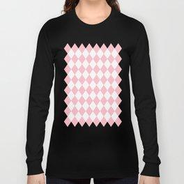 Diamonds (Pink/White) Long Sleeve T-shirt