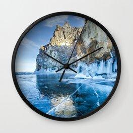 Blue Ice of the Lake Baikal Wall Clock