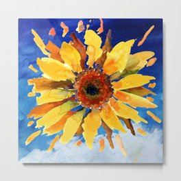 The 'Sun' Flower Metal Print