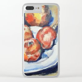 Four Apples and a Knife Cezanne Interpretation Clear iPhone Case