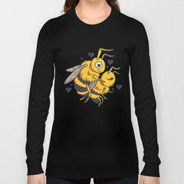 Cuddling Mating Bees Long Sleeve T-shirt