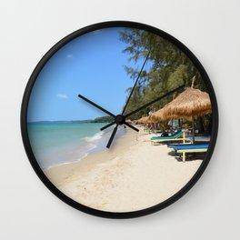 Otres Beach Sihanoukville Cambodia Wall Clock