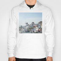 greece Hoodies featuring Greece Villas by Limitless Design
