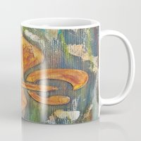 fleur de lis Mugs featuring Fleur De Lis by Crystal Nero