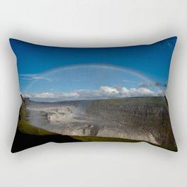 Iceland Rainbow Rectangular Pillow