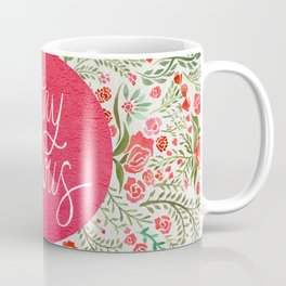 Stay Curious – Pink & Green Coffee Mug