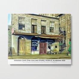 Panama Cafe (The Collins Store), Mobile, Alabama 1939 Metal Print