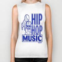 hip hop Biker Tanks featuring  HIP HOP MUSIC  DESIGN... by T.H. DESIGNZZ