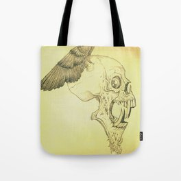 Winged Skull Tote Bag